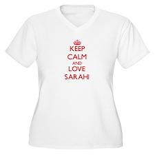 Keep Calm and Love Sarahi Plus Size T-Shirt