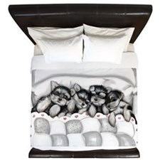 Sleeping BabiesBW King Duvet