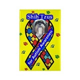 Shih Tzu Autism Rectangle Magnet (10 pack)