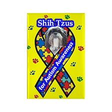 Shih Tzu Autism Rectangle Magnet