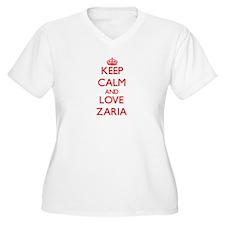 Keep Calm and Love Zaria Plus Size T-Shirt