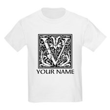 Custom Decorative Letter V T-Shirt