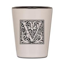 Decorative Letter V Shot Glass