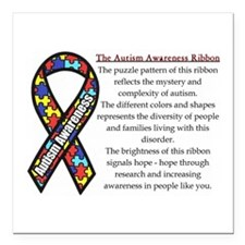 "Ribbon Meaning.png Square Car Magnet 3"" X 3&q"
