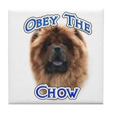Chow Obey Tile Coaster