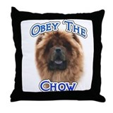 Chow Obey Throw Pillow