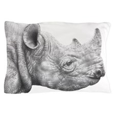 Black Rhino Pillow Case 1