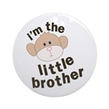 little brother monkey Ornament (Round)