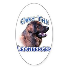 Leonberger Obey Oval Bumper Stickers