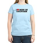 I Love Men in Uniform Women's Light T-Shirt