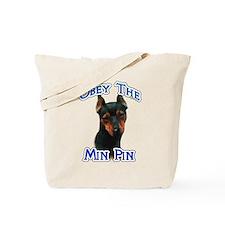 Min Pin Obey Tote Bag