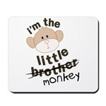 little brother monkey crossout Mousepad