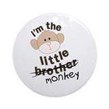 little brother monkey crossout Ornament (Round)