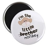 little brother monkey crossout Magnet