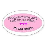 Pregnant With Love- Children in Colombia Sticker