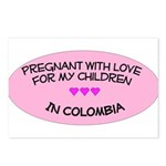 Pregnant With Love- Children in Colombia  Postcard