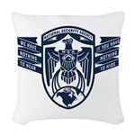 Nsa Nothing To Hear Woven Throw Pillow