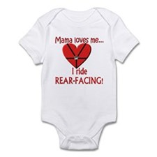 Rear facing Infant Bodysuit