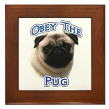 Pug Obey Framed Tile