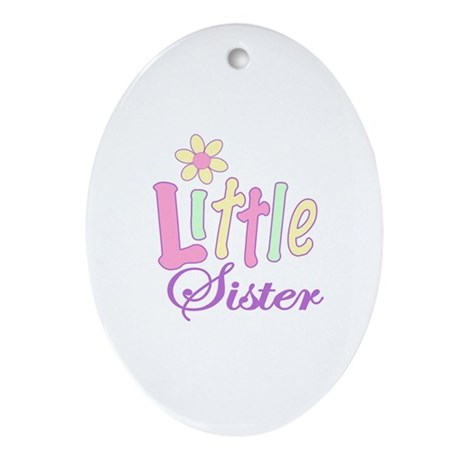 Little Sister Oval Ornament
