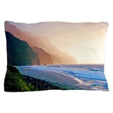 Sunset Kalalau Beach Kauai Hawaii Pillow Case