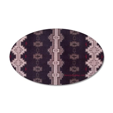 19th Century Navajo design 35x21 Oval Wall Decal
