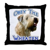 Wheaten Obey Throw Pillow