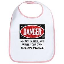 Personalized Danger Sign Bib