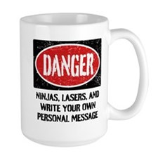 Personalized Danger Sign Mug