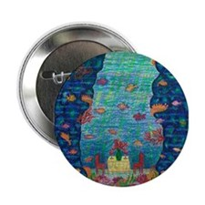 "Girdners Grotto Fish Bliss 2.25"" Button"