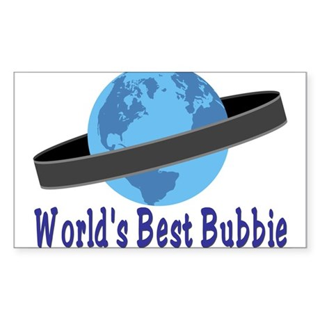 World's Best Bubbie Rectangle Sticker