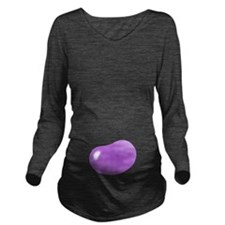 bigger jellybean pur Long Sleeve Maternity T-Shirt