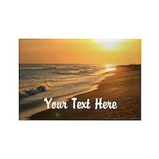 Gratitude Beach Sunset Mantra Rectangle Magnet