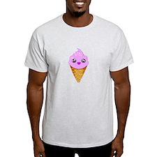 Strawberry Kawaii Ice Cream Cone T-Shirt