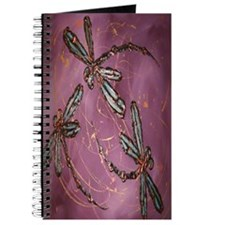 Dragonflies Dusky Rose Journal
