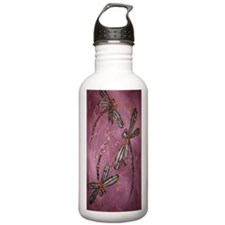 Dragonflies Dusky Rose Sports Water Bottle