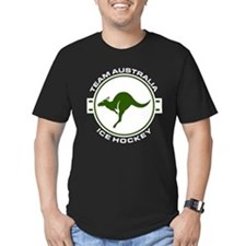 Team Australia Ice Hockey Travel Stamp T-Shirt