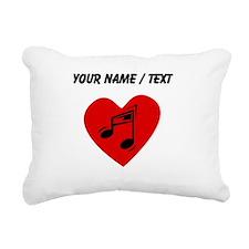 Custom Music Heart Rectangular Canvas Pillow