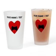 Custom Video Games Heart Drinking Glass
