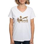 Cock Push Up Vintage Women's V-Neck T-Shirt