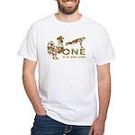 Cock Push Up Vintage White T-Shirt