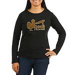 Cock Push Up Women's Long Sleeve Dark T-Shirt