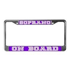 Soprano License Plate Frame