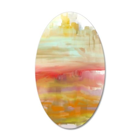 Painted Desert 35x21 Oval Wall Decal