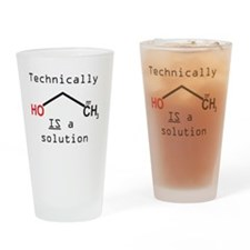 Ethanol is a solution Drinking Glass