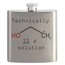 Ethanol is a solution Flask