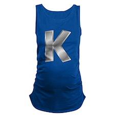 Silver Letter K Maternity Tank Top