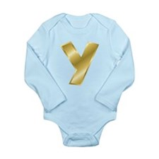 Gold Letter Y Body Suit