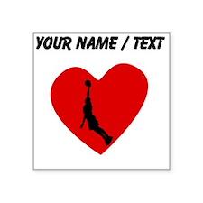 Custom Basketball Dunk Heart Sticker