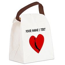 Custom Basketball Dunk Heart Canvas Lunch Bag